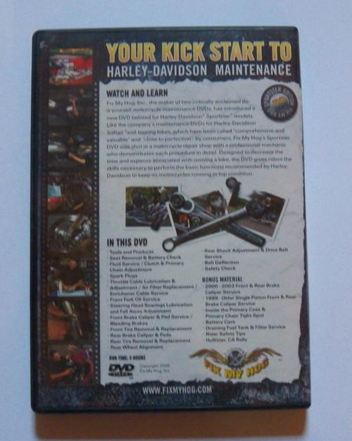 Fix My Hog Sportster Edition 2 DVD set  (used)