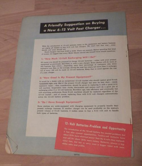 "Original 1953 Mobilgas Dealers ""Meeting the 12-Volt Battery Problem"" booklet"