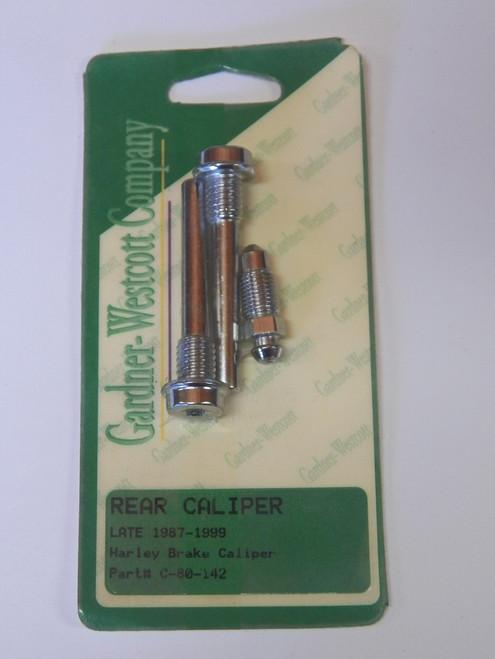 Gardner-Westcott Rear Caliper bolt kit part # C-80-142 for late 87-99 Harley-Davidsons