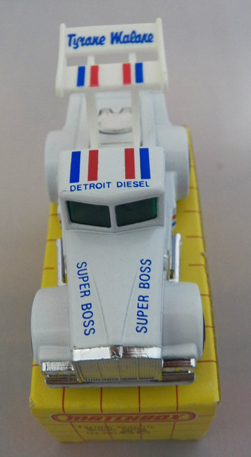 1983 Matchbox Tyrone Malone Super Boss race truck with box
