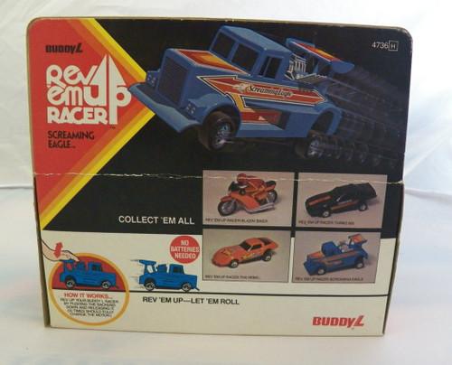 """Vintage 1981 Buddy L Rev Em Up Racer """" Screaming Eagle"""" truck with original box"""