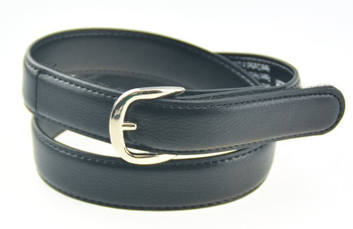 Kids Boys Girls Childrens Black Leather Uniform Belt
