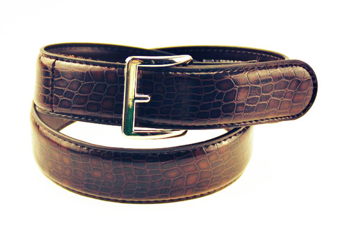 Kids Boys Girls Childrens Brown Leather Uniform Belt