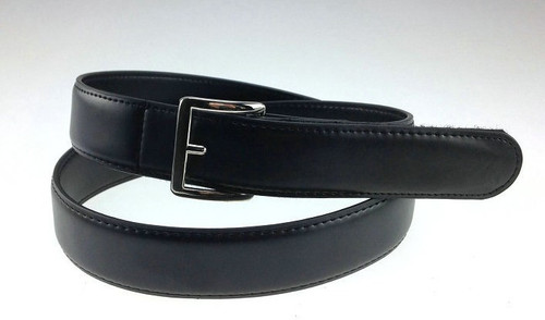 1.3 inch wide Genuine Leather Belt in Black with Smooth Finish