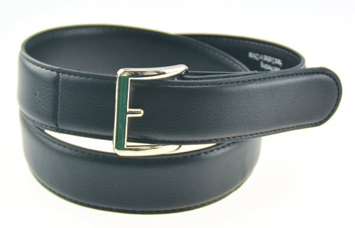 1.3 inch wide Genuine Leather Belt in Black with Textured Finish