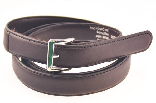 Brown Leather Belt with Square Buckle