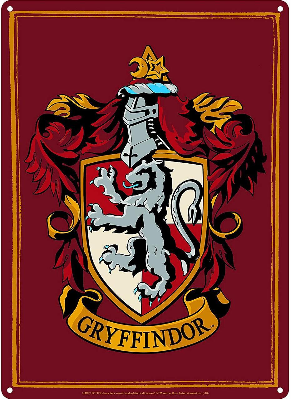 Gryffindor Harry Potter A5 Tin Sign Toysntech