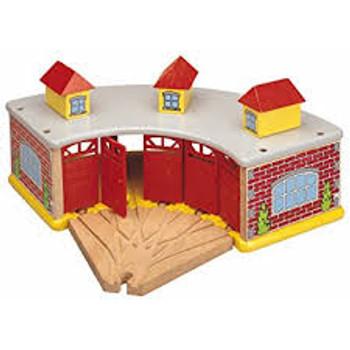 round house w/5 way track