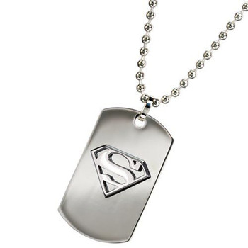 superman steel dog tag Necklace
