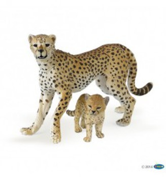 cheetah with cub Papo