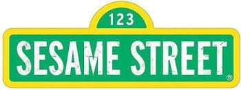 sesame street  tin sign