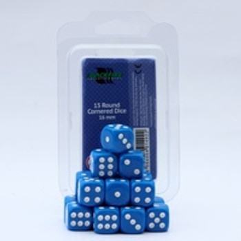 Dice  16mm d6 blue( 15 dice )