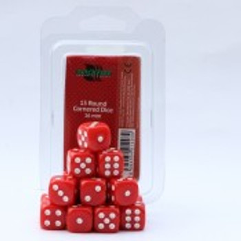 dice 16mm d6 red ( 15 dice )