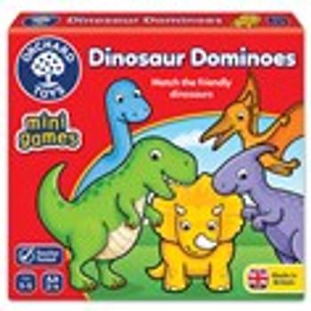 Orchard Toys dinosaur mini dominoes game