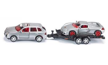 car with car trailer