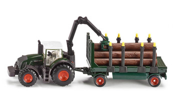 tractor w forestry trailer