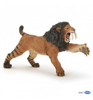 papo roaring smilodon