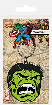 hulk face carded keyring