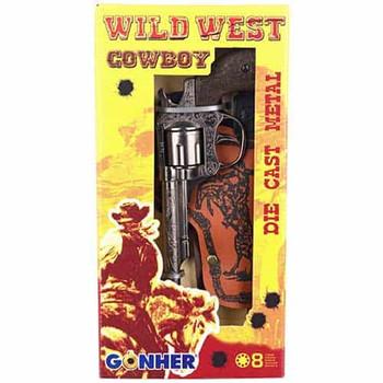 wild west metal gun  and holster