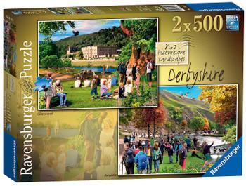 Ravensburger 2 x 500pc jigsaw puzzle Derbyshire
