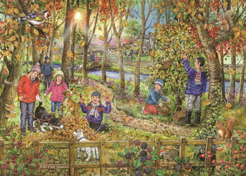 House of puzzles 250 big pieces Autumn Leaves