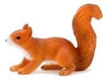 Squirrel Running Toy Figure