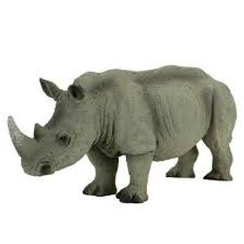 White Rhino Toy Figure