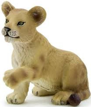 Lion Cub Playing Toy Figure
