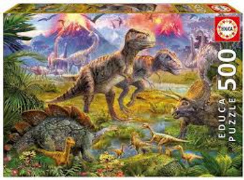 Educa 500 piece jigsaw Dinosaur Gathering