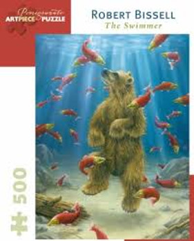 Pomegranate 500pc jigsaw the Swimmer, larger pieces
