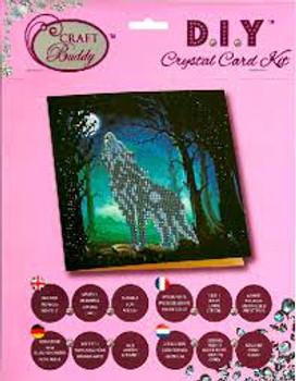 Crystal Art Card The Wolf
