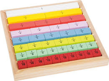Fractions board 6+ 40 pieces