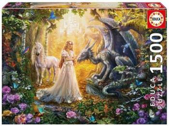 Educa Dragon, Princess and Unicorn 1500 piece jigsaw