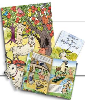 Story card The Three Billy Goats Gruff