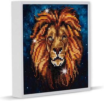 Crystal Art lion canvas