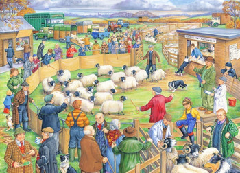 House of Puzzles Big 250 Piece Jigsaw Puzzle - Sheep Sale