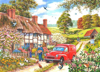 Big 250 Piece Jigsaw Puzzle Daily Delivery - Postman In Village
