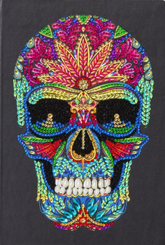 """Skull"""" Crystal Art Notebook Kit, 26 x 18cm"""