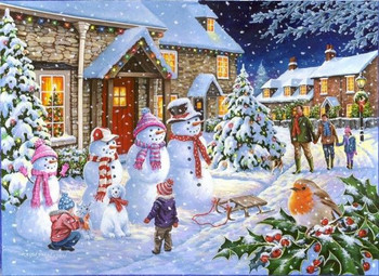 House of Puzzles Snow Family 1000 piece jigsaw