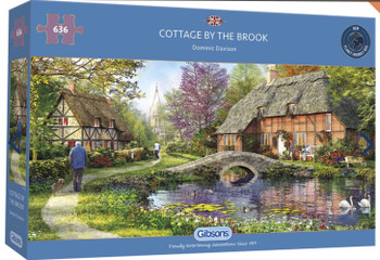 Gibson 636 piece jigsaw Cottage by the brook
