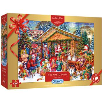 Gibson Christmas Limited Edition this way to Santa jigsaw