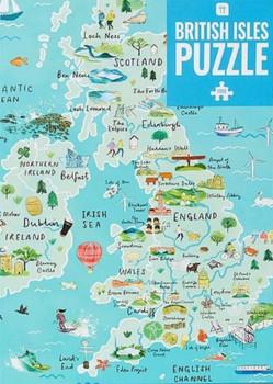 Map puzzle British isles 1000 piece