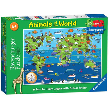 Ravensburger 60 piece jigsaw animals of the world