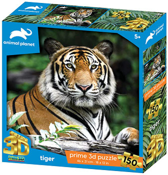 Animal Planet AP10945 Tiger 150 Pieces 3D Effect Jigsaw Puzzle, Multicolour