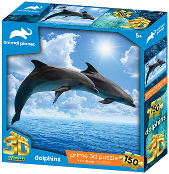 Animal Planet Dolphins 150 Pieces 3D Effect Jigsaw Puzzle, Multicolour