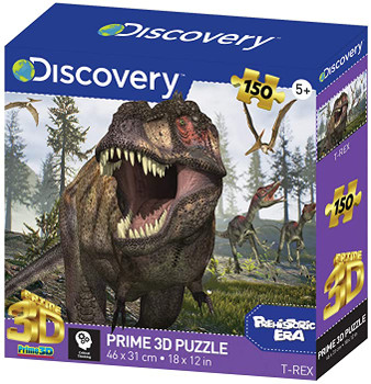 Discovery Prime 3D Jigsaw Puzzle T, Tyrannosaurus Rex, One Size