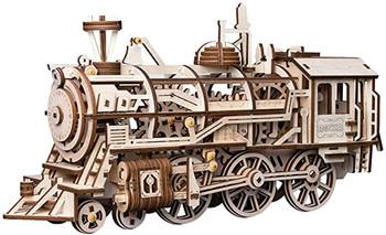 ROBOTIME Locomotive Wood Mechanical Construction Kit