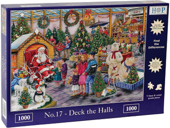 House of Puzzles Deck the halls 1000 piece jigsaw