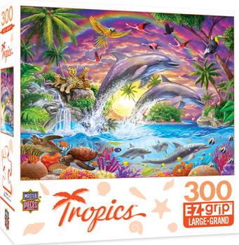 Masterpieces Puzzle Tropics Fantasy Isle Ez Grip Puzzle 300 pieces