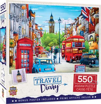 Masterpieces Puzzle Travel Diary London Puzzle 550 pieces